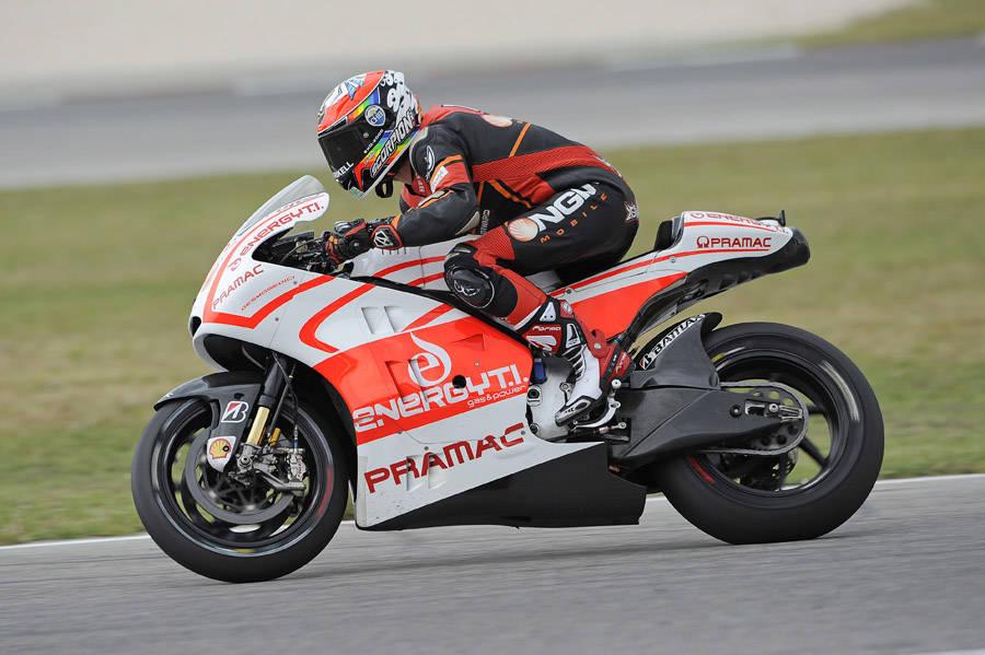 Test con la Ducati dell'Ignite Pramac Racing Team 3