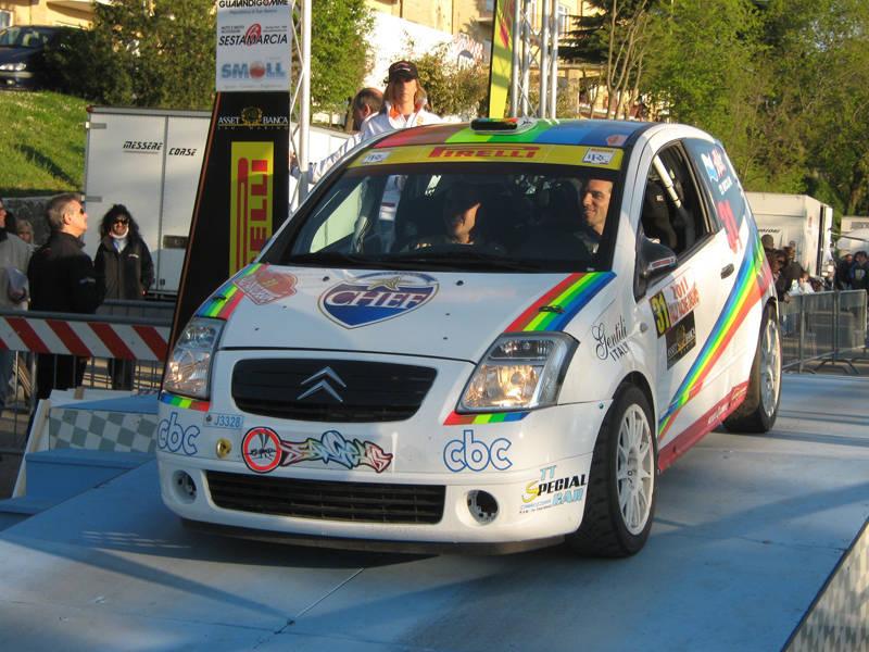 Al Rally di Montecatini con la Citroen DS3 R3 3