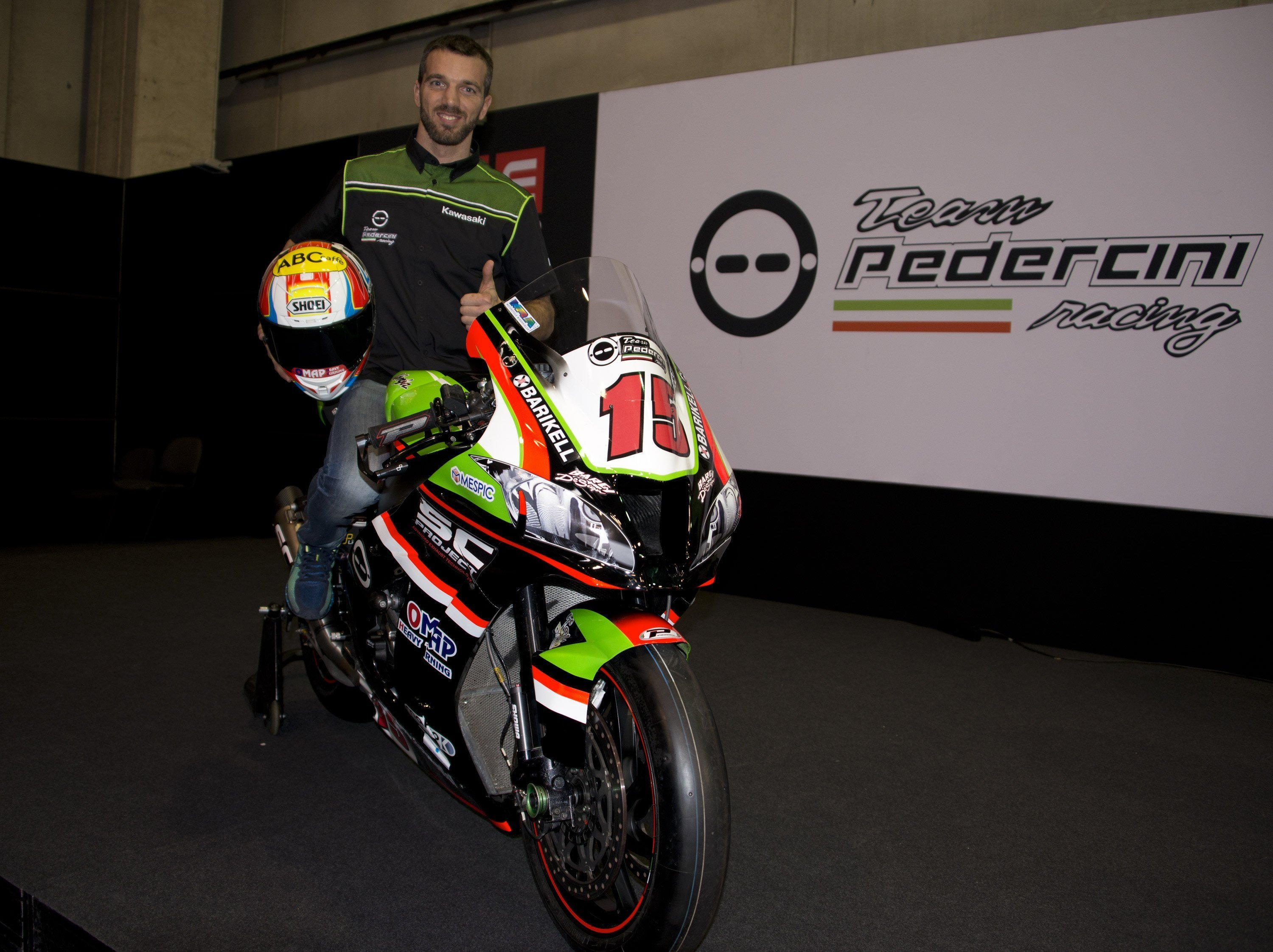 Alex e Pedercini Racing SC-Project si presentano a Motor Bike Expo